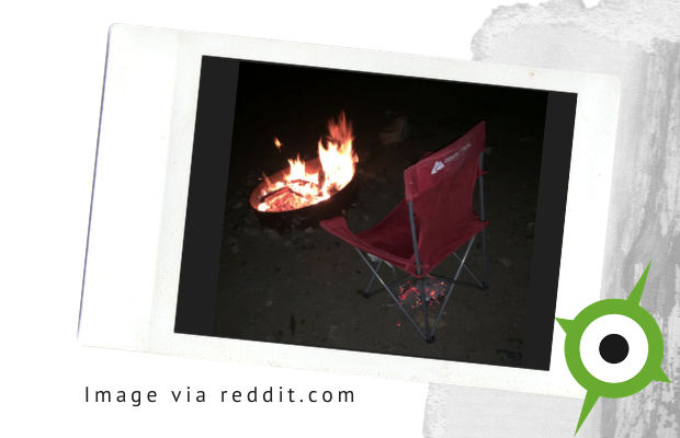 Hot Coals Camping Chair Warm